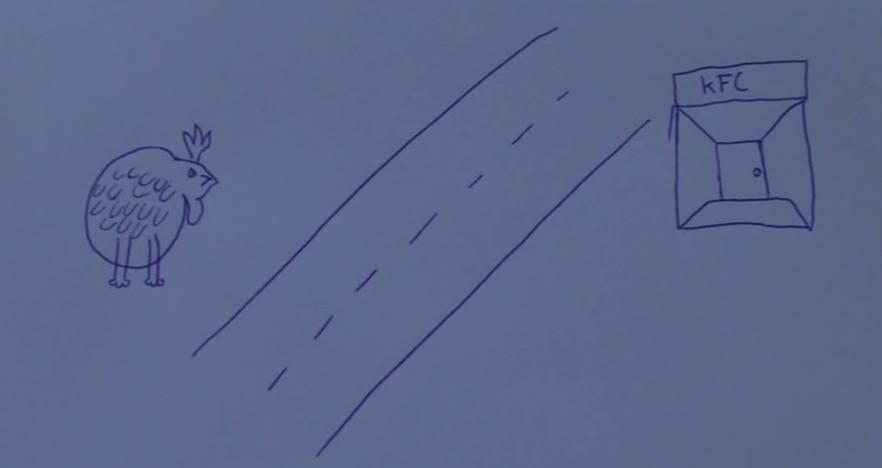 Unha galiña cruzou a estrada buscando onde xantar... - ADAM