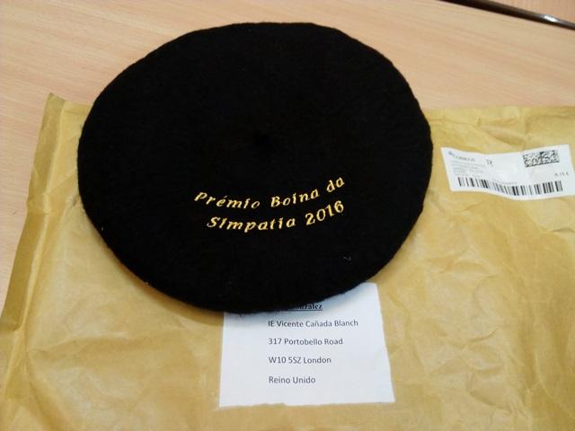 O noso premio: a auténtica Boina Galega feita de maneira artesanal